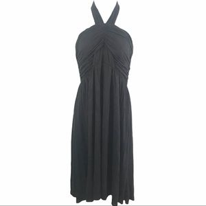 Theory Sz Md Halter Black Dress